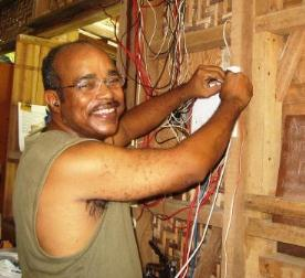 Kevin working wiring