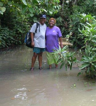 Kevin & Gertrude in the river