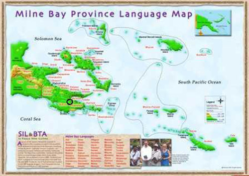 Map of Milne Bay