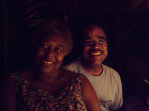 Kevin & Gertrude at candle light dinner.
